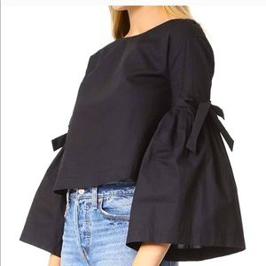 FREE PEOPLE So obviously Pleated Long Sleeve Top